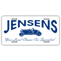 Jensens Classic Car Specialist License Plate