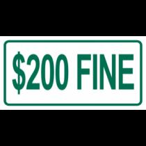$200 Fine