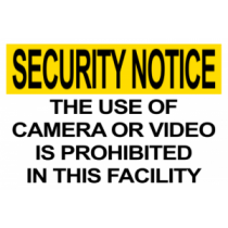 Camera/Video Prohibited