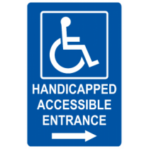 Handicap Accessible Entrance - Right Arrow