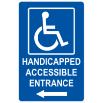 Handicap Accessible Entrance - Left Arrow
