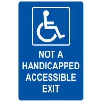 Not a handicap Accessible Exit