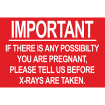 Red Pregnant X-Ray