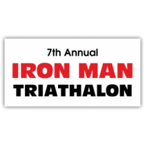 Iron Man Triathalon Magnetic Sign - Magnetic Sign