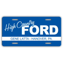 High County Ford License Plate