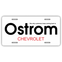 Ostrom Chevrolet License Plate