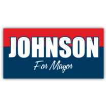 Johnson For Mayor Vinyl Banner