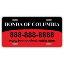 Honda of Columbia License Plate