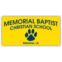 Memorial Baptist Christian School Magnetic Sign - Magnetic Sign
