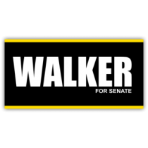Walker For Senate Vinyl Banner