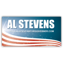 Al Stevens For Gonverner Vinyl Banner