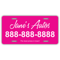 Janes Autos License Plate