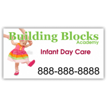 Building Blocks Infant Daycare Magnetic Sign - Magnetic Sign