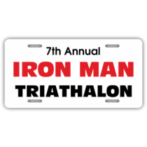 Iron Man Triathalon License Plate