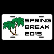 Spring Break License Plate