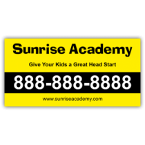 Sunrise Academy Magnetic Sign - Magnetic Sign