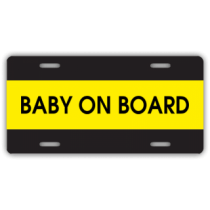 Baby On Board License Plate