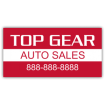 Top Gear Auto Sales Magnetic Sign - Magnetic Sign