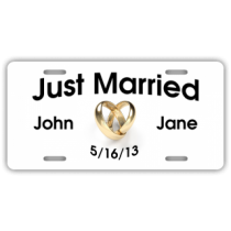 Just Married 1 License Plate