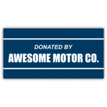 Vehicle Donated By Magnetic Sign - Magnetic Sign
