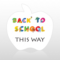 School 2 Floor Decal Apple