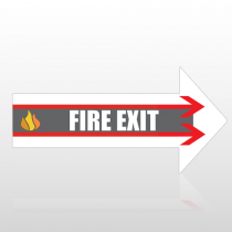 Exit 46 Floor Decal Right Arrow