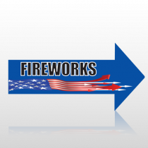 Fire Works 48 Floor Decal Right Arrow