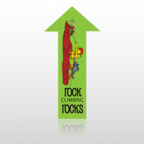 Rock Climb 10 Floor Decal Arrow Up