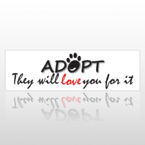 Adopt 201 Bumper Sticker