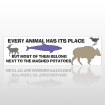 Animal Dish 242 Bumper Sticker