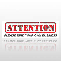Attention 57 Bumper Sticker