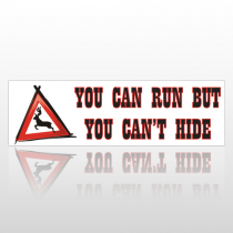 Can't Hide 137 Bumper Sticker