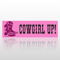 Cowgirl Up 144 Bumper Sticker