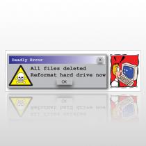 Deadly Error 123 Bumper Sticker
