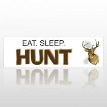Deer Eat Sleep 138 Bumper Sticker