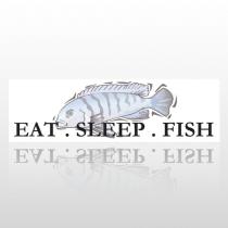Eat Sleep Fish 83 Bumper Sticker