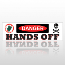 Hands Off 176 Bumper Sticker