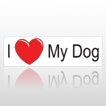 Heart Dog 188 Bumper Sticker