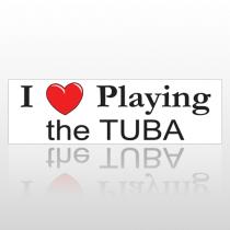 Heart Tuba 156 Bumper Sticker
