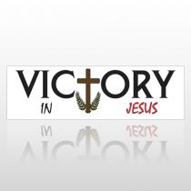 Jesus Victory 218 Bumper Sticker