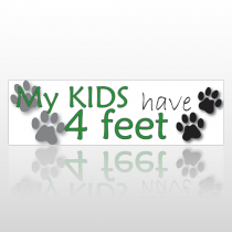 Kids Feet 198 Bumper Sticker