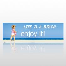 Life Beach 245 Bumper Sticker