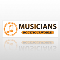 Musician Note 75 Bumper Sticker