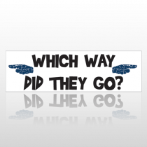 Pointing Hands 74 Bumper Sticker
