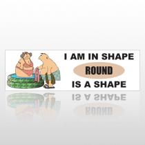 Round Shape 236 Bumper Sticker