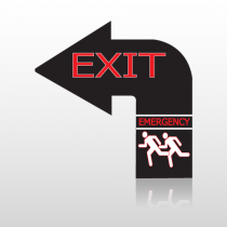 Exit 29a Floor Decal Curved Arrow Left