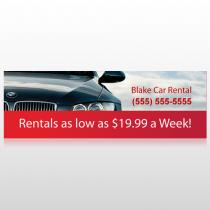 Car Rental 112 Custom Sign