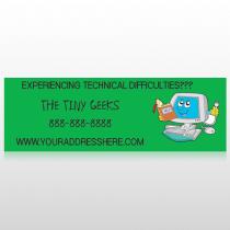 Cartoon Computer 431 Custom Sign