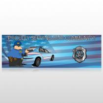 Police Thanks 429 Custom Sign