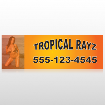Tropical Rayz Tan 490 Custom Sign